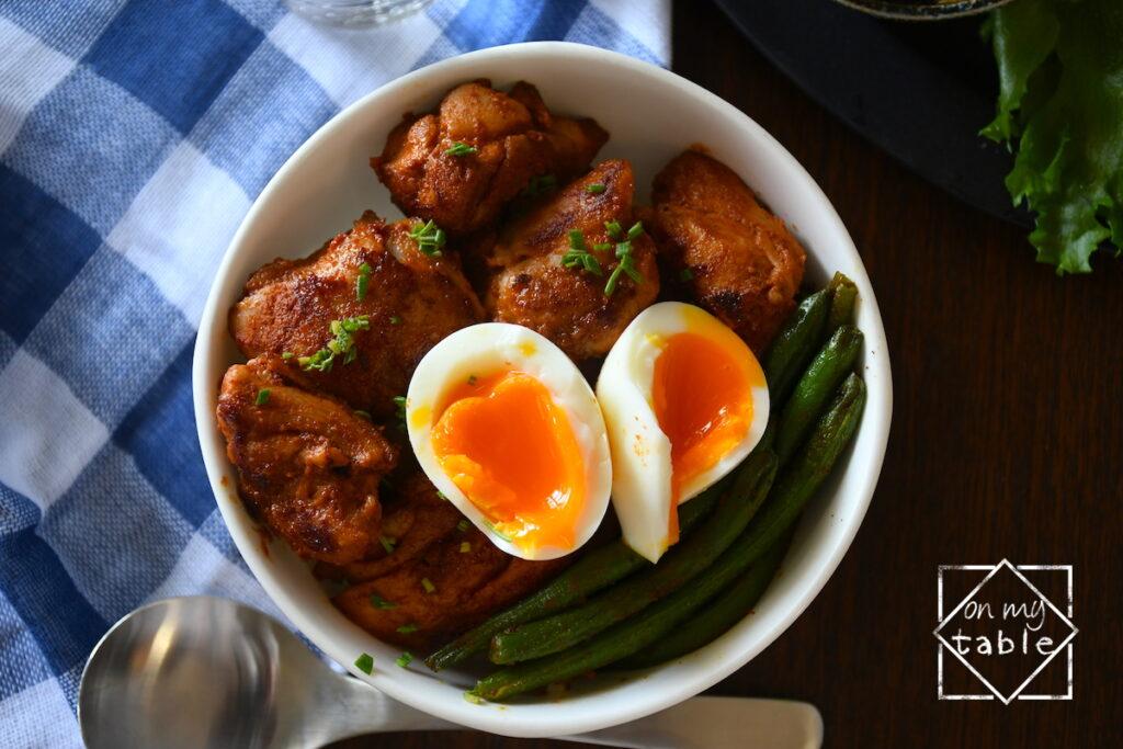カルディのタンドリーチキンの素で鶏丼